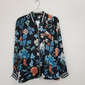 H&M Bomber Style Jacket Floral - NWT!